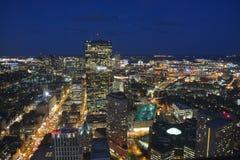 De nacht van Boston Stock Afbeelding