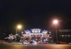 De nacht van Chengdou Stock Foto's