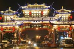 De nacht van Chengdu Stock Foto