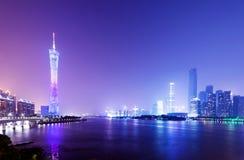 De Nacht van China Guangzhou stock afbeelding