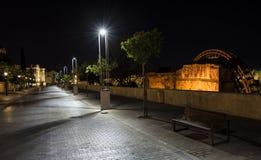 De nacht van Cordoba royalty-vrije stock afbeeldingen