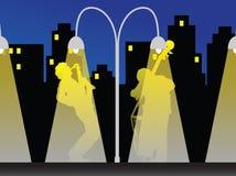 De nacht van de jazz royalty-vrije illustratie