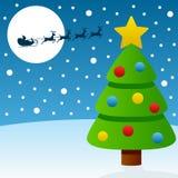 De Nacht van de kerstavond Stock Fotografie