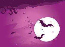De nacht van de knuppel vector illustratie