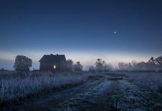 De nacht van de maan Stock Fotografie