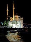 De nacht van de moskee Stock Afbeeldingen