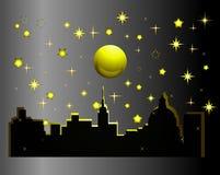De nacht van de stad ââat Royalty-vrije Stock Afbeelding