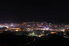De nacht van de stad Royalty-vrije Stock Afbeelding