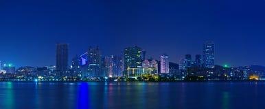 De nacht van de stad stock foto's