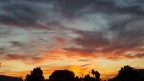 De nacht van de stad van Californië Stock Foto