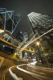 De Nacht van de stad van Hongkong royalty-vrije stock foto