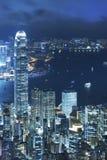 De Nacht van de Stad van Hongkong stock fotografie