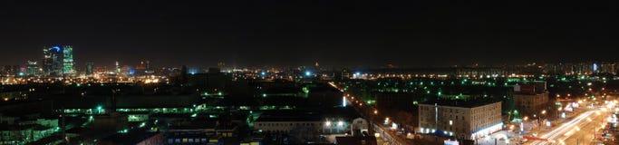 De nacht van de Stad van Moskou Royalty-vrije Stock Foto's