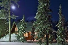 De nacht van de volle maan Royalty-vrije Stock Foto