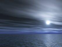 De nacht van de volledig-maan Royalty-vrije Stock Afbeelding