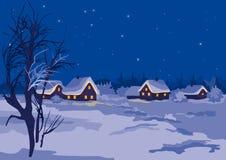 De nacht van de winter vector illustratie