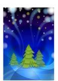 De nacht van de winter vóór Kerstmis Stock Fotografie