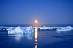 De nacht van de zomer in Antarctica royalty-vrije stock foto's