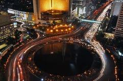 De nacht van Djakarta Stock Fotografie