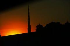 De Nacht van Doubai royalty-vrije stock foto's