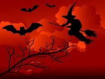 De nacht van Halloween Stock Foto