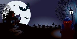 De nacht van Halloween Stock Foto's