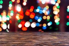 De nacht van het Bokehnieuwjaar ` s Stock Foto's