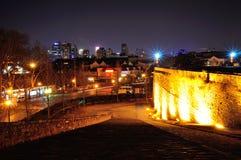 De nacht van het de Poortkasteel van Nanjingszhonghua Royalty-vrije Stock Foto's