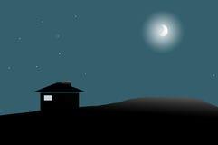 De nacht van het land Royalty-vrije Stock Fotografie