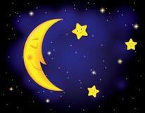 De nacht van het maanlicht Stock Afbeelding