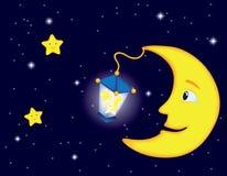 De nacht van het maanlicht Royalty-vrije Stock Afbeelding