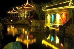 De Nacht van het meer Stock Foto