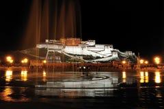 De Nacht van het Paleis van Potala Stock Afbeelding