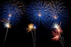 De Nacht van het vuurwerk Stock Foto