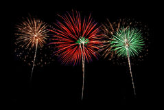 De Nacht van het vuurwerk Stock Afbeelding