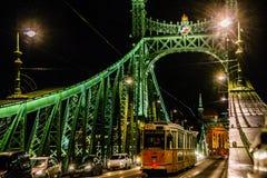 De nacht van Hongarije Boedapest royalty-vrije stock foto