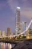 De nacht van Hongkong Royalty-vrije Stock Foto's