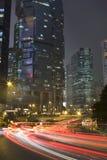 De nacht van Hongkong Stock Foto's