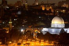 De nacht van Jeruzalem Stock Afbeelding