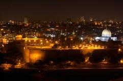 De nacht van Jeruzalem Royalty-vrije Stock Foto