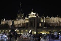 De nacht van Krakau royalty-vrije stock fotografie