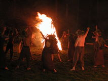 De nacht van Kupala royalty-vrije stock foto