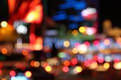 De nacht van Las Vegas royalty-vrije stock afbeelding