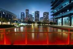 De nacht van Los Angeles Stock Foto