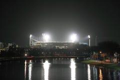De nacht van MCG Melbourne Royalty-vrije Stock Afbeeldingen