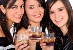 De nacht van meisjes uit Stock Fotografie