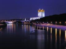 De nacht van Moskou Stock Foto