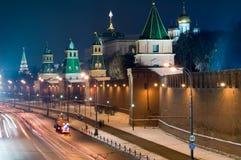 De nacht van Moskou Royalty-vrije Stock Foto