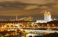 De nacht van Moskou Stock Foto's
