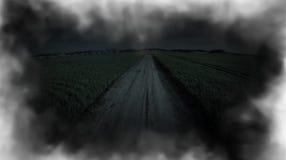 De nacht van de mysticusvlucht Vlucht bij nacht De vampier zoekt een slachtoffer stock footage